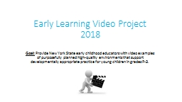 Early Learning Video Project 2018