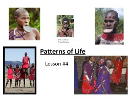 Patterns of Life Lesson #4