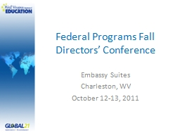 Federal Programs Fall Directors' Conference