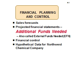 FINANCIAL PLANNING  AND CONTROL PowerPoint PPT Presentation