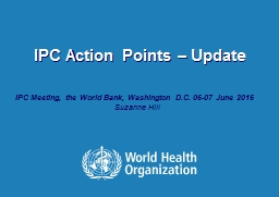 IPC Action Points � Update