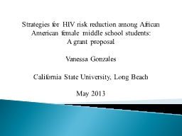 Strategies for HIV risk reduction among African