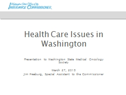 Health Care Issues in Washington