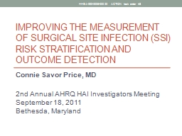 Improving the Measurement of Surgical Site Infection