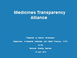 Medicines Transparency Alliance