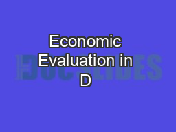 Economic Evaluation in D & I Research