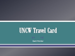 UNCW Travel Card Card Holder