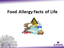 Food Allergy Facts of Life