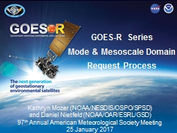GOES-R Series  Mode & Mesoscale Domain Request Process