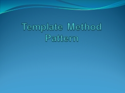 Template Method Pattern StarBuzz