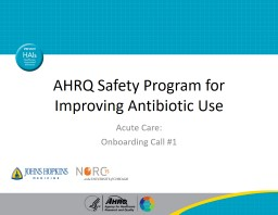 AHRQ Safety Program for Improving Antibiotic Use