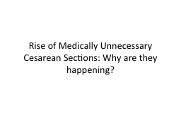 Rise of Medically Unnecessary Cesarean Sections: Why are they happening?