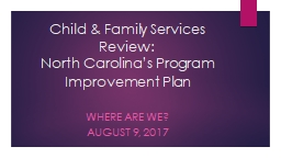 Child & Family Services Review: