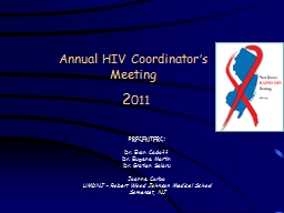 Annual  HIV  Coordinator�s Meeting
