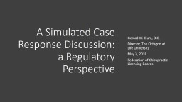 A Simulated Case Response Discussion: