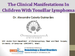 The  Clinical   Manifestations