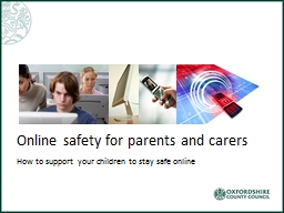 Online safety for parents and carers