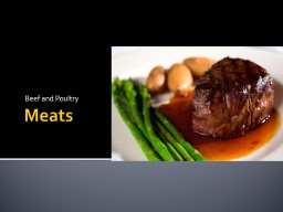 Meats Beef and Poultry STANDARD 4