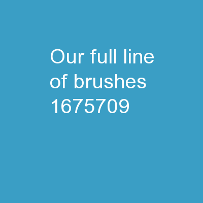 Our Full Line of   Brushes PowerPoint PPT Presentation