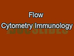 Flow Cytometry Immunology