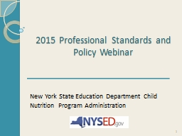 2015 Professional Standards and Policy Webinar