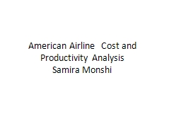 American Airline  Cost and Productivity Analysis