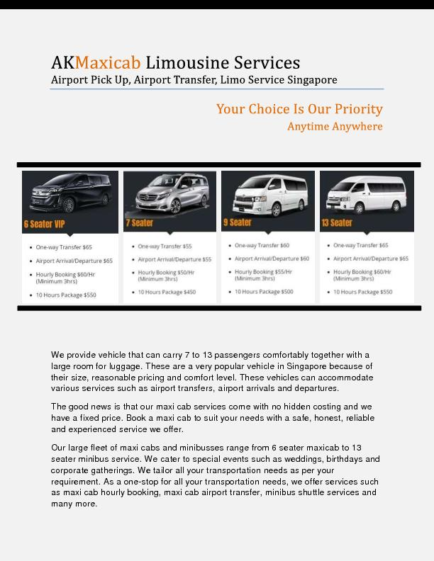 13 Seater Van Rental Singapore