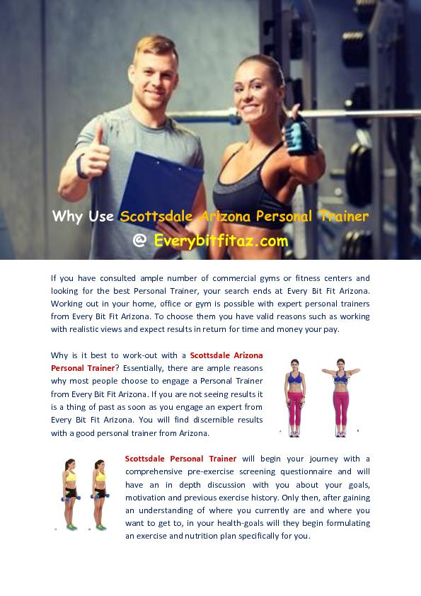 Scottsdale Arizona Personal Trainer - Every Bit Fit Arizona