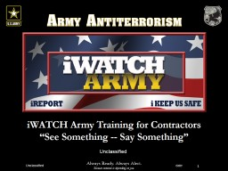 iWATCH Army Training for Contractors