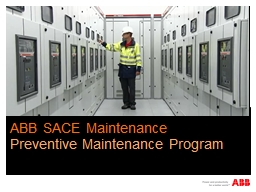 Feb  2013 ABB SACE Maintenance