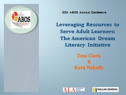 Leveraging Resources to Serve Adult Learners: