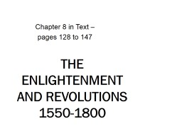 The Enlightenment and Revolutions