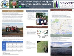 2014 Acadian Program in Regional Conservation and Stewardship