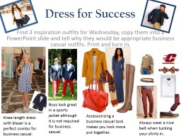 Dress for Success Find 3 inspiration outfits for