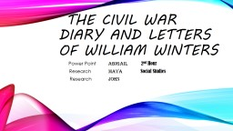 The Civil War Diary and Letters of William Winters