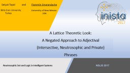 A Lattice Theoretic Look: A Negated Approach to Adjectival
