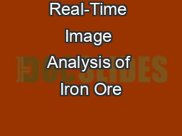 Real-Time Image Analysis of Iron Ore