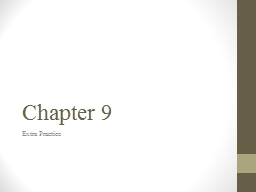 Chapter 9 Extra Practice
