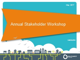Annual Stakeholder Workshop