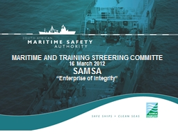 MARITIME AND TRAINING STREERING COMMITTE