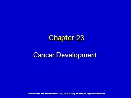 Chapter 23 Cancer Development