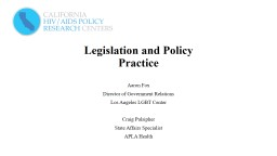 Legislation and Policy  Practice