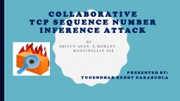 COLLABORATIVE  TCP SEQUENCE NUMBER