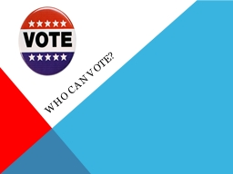 Who can vote? Voting Rights Denied