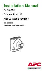 Installation Manual NetBotz Camera Pod  NBPD This manual is available in English on the enclosed CD