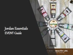 Jordan Essentials  EVENT Guide