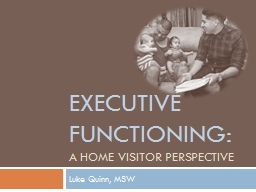 Executive Functioning: A Home Visitor Perspective
