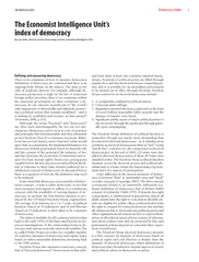 THE WORLD IN OO Democracy index The Economist Intellig