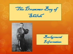 """""""The Drummer Boy of Shiloh"""""""