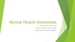 Mental Health Awareness Allison Masters,